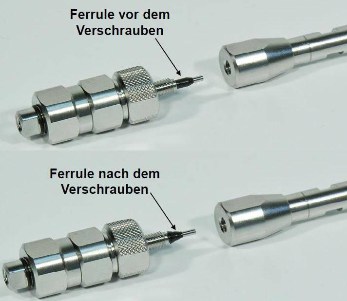 HPLC-Ferrules nach Benutzung